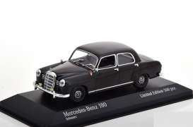 Mercedes Benz  - 180 W120 1955 black - 1:43 - Maxichamps - 943033103 - mc943033103 | Tom's Modelauto's