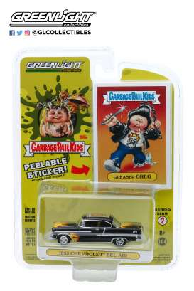 Chevrolet  - Bel Air 1955 black - 1:64 - GreenLight - 54030A - gl54030A | Toms Modelautos