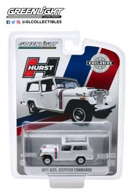 Jeep  - Jeepster 1971 white - 1:64 - GreenLight - 30115 - gl30115 | Toms Modelautos