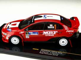 Mitsubishi  - Lancer Evo X #1 2010 red/white - 1:43 - IXO Models - KB1046 - ixKB1046 | Toms Modelautos