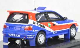 Nissan  - Pulsar GTi-R  1991 red/white/blue - 1:43 - Norev - PM0080 - norPM0080 | Toms Modelautos