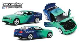 Ford  - Mustang GT 2010 blue/green - 1:18 - GreenLight - 13552 - gl13552 | Toms Modelautos