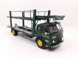 Pegaso  - 1060 L Car Transporter green/yellow - 1:43 - Magazine Models - magPER005 | Tom's Modelauto's