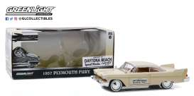 Plymouth  - Fury 1957 creme - 1:24 - GreenLight - 18257 - gl18257 | Toms Modelautos