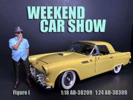 Figures  - Weekend Car Show 2019  - 1:24 - American Diorama - 38309 - AD38309 | Toms Modelautos