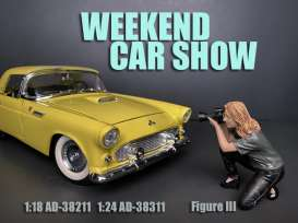 Figures  - Weekend Car Show 2019  - 1:24 - American Diorama - 38311 - AD38311 | Toms Modelautos