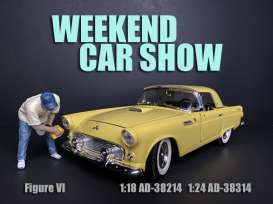 Figures  - Weekend Car Show. 2019  - 1:18 - American Diorama - 38214 - AD38214 | Toms Modelautos