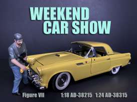 Figures  - Weekend Car Show 2019  - 1:24 - American Diorama - 38315 - AD38315 | Toms Modelautos