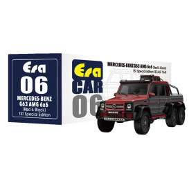 Mercedes Benz  - G63 AMG 6x6 2019 red/black - 1:64 - Era - MB196x6RF06 - Era196x6RF06 | Tom's Modelauto's