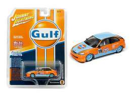 Honda  - Civic *Gulf Racing* blue/orange - 1:64 - Johnny Lightning - cp7192 - jlcp7192 | Toms Modelautos