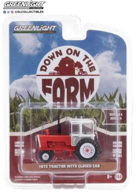Tractor  - 1973 white/red - 1:64 - GreenLight - 48040A - gl48040A | Toms Modelautos
