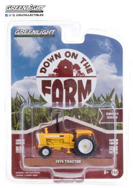 Tractor  - 1974 white/yellow - 1:64 - GreenLight - 48040B - gl48040B | Toms Modelautos