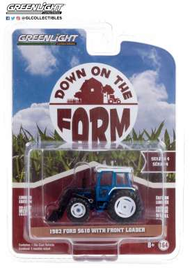 Tractor  - 1982 blue/black - 1:64 - GreenLight - 48040C - gl48040C | Toms Modelautos