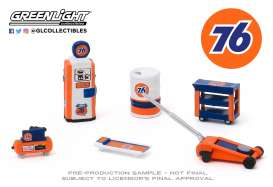 diorama Accessoires - blue/orange - 1:64 - GreenLight - 16040C - gl16040C | Toms Modelautos