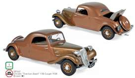 Citroen  - Traction Avant 1938 brown - 1:18 - Norev - 181441 - nor181441 | Toms Modelautos