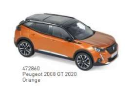 Peugeot  - 2008 GT 2020 orange - 1:43 - Norev - 472860 - nor472860 | Toms Modelautos