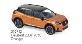 Peugeot  - 2008 2020 orange - 1:64 - Norev - 310912 - nor310912 | Toms Modelautos