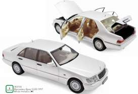 Mercedes Benz  - S320 1997 white - 1:18 - Norev - 183720 - nor183720 | Toms Modelautos