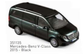 Mercedes Benz  - V-Class 2015 black - 1:43 - Norev - 351135 - nor351135 | Toms Modelautos