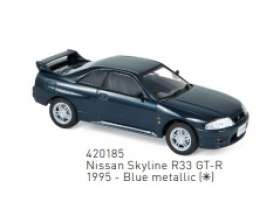 Nissan  - Skyline 1995 blue - 1:43 - Norev - 420185 - nor420185 | Toms Modelautos