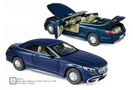 Mercedes Benz  - Maybach 2018 blue metallic - 1:18 - Norev - 183472 - nor183472 | Toms Modelautos