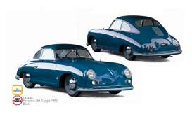 Porsche  - 356 Coupe 1952 blue - 1:18 - Norev - 187450 - nor187450 | Toms Modelautos