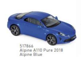 Renault Alpine - 2018 blue - 1:43 - Norev - 517866 - nor517866 | Toms Modelautos