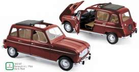 Renault  - 4L 1966 dark red - 1:18 - Norev - 185187 - nor185187 | Toms Modelautos