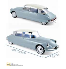 Citroen  - DS 19 1959 blue/white - 1:12 - Norev - 121564 - nor121564 | Toms Modelautos