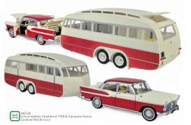 Simca  - 1958 red/ivory - 1:18 - Norev - 185728 - nor185728 | Toms Modelautos