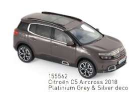 Citroen  - C5 2018 grey/silver - 1:43 - Norev - 155562 - nor155562 | Toms Modelautos