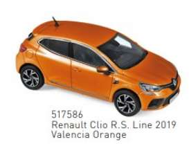 Renault  - Clio 2019 orange - 1:43 - Norev - 517586 - nor517586 | Toms Modelautos