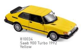Saab  - 1992 yellow - 1:43 - Norev - 810034 - nor810034 | Toms Modelautos