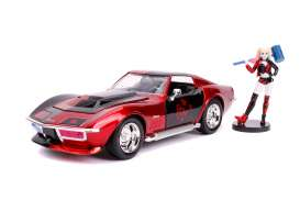 Chevrolet  - Corvette Stingray 1969 red/black - 1:24 - Jada Toys - 31196 - jada31196 | Toms Modelautos