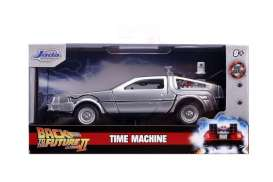 Delorean  - Back to the Future II grey-silver - 1:32 - Jada Toys - 30541 - jada30541 | Toms Modelautos
