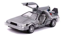 Delorean  - Back to the Future II grey-silver - 1:24 - Jada Toys - 31468 - jada31468 | Toms Modelautos