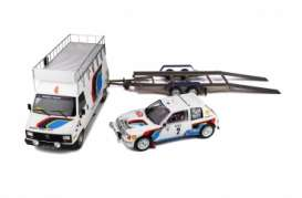 Peugeot  - 205 1985 white/blue - 1:18 - OttOmobile Miniatures - 328 - otto328 | Toms Modelautos