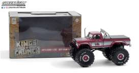 Ford  - F-250 Monster Truck 1975 red/grey - 1:43 - GreenLight - 88032 - gl88032 | Toms Modelautos