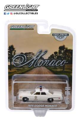 Dodge  - Monaco 1975 white - 1:64 - GreenLight - 30140 - gl30140 | Toms Modelautos