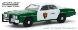 Plymouth  - Fury 1975 green/white - 1:64 - GreenLight - 30141 - gl30141 | Toms Modelautos