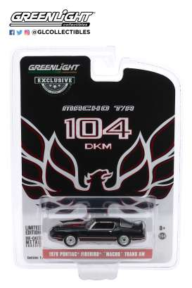 Pontiac  - Firebird 1978 black/red - 1:64 - GreenLight - 30149 - gl30149 | Toms Modelautos