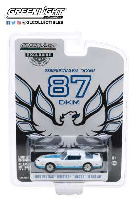 Pontiac  - Firebird 1978 white/blue - 1:64 - GreenLight - 30150 - gl30150 | Toms Modelautos