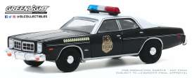 Dodge  - Monaco 1977 black/white - 1:64 - GreenLight - 30152 - gl30152 | Toms Modelautos