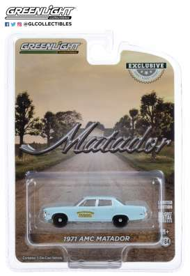 AMC  - Matador 1971 blue - 1:64 - GreenLight - 30153 - gl30153 | Toms Modelautos