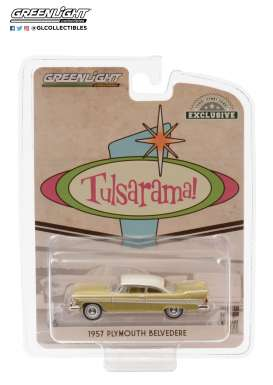 Plymouth  - Belvedere 1957 gold/sand/white - 1:64 - GreenLight - 30157 - gl30157 | Toms Modelautos