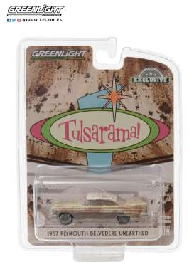 Plymouth  - Belvedere 1957 gold/sand/white - 1:64 - GreenLight - 30158 - gl30158 | Toms Modelautos