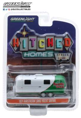 Airstream  - 1971 white/green - 1:64 - GreenLight - 34080C - gl34080C | Toms Modelautos