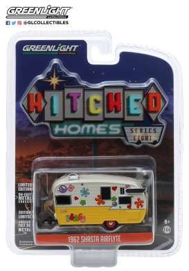 Airstream  - yellow/white - 1:64 - GreenLight - 34080F - gl34080F | Toms Modelautos