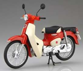 Honda  - Super Cub 110 red/white - 1:12 - Fujimi - 141831 - fuji141831 | Toms Modelautos