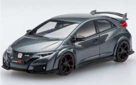 Honda  - Civic  2015 grey - 1:43 - Ebbro - 45356 - ebb45356 | Toms Modelautos